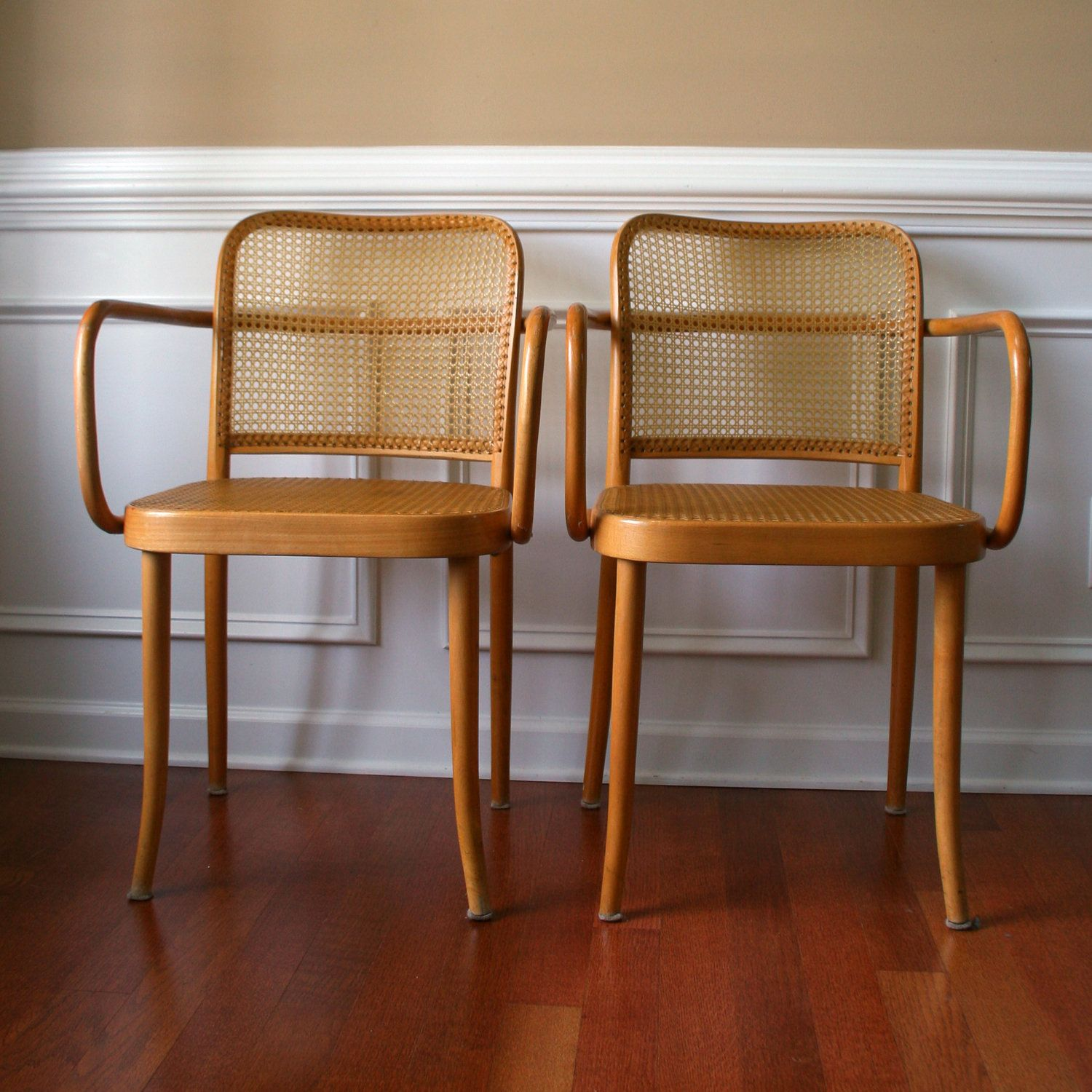 Beautiful Thonet Bentwood Chairs. Prague Chair. Stendig Chairs. Cane Chairs. Mad Men.  Mid Century Modern. Fathers Day Gift.. $495.00, Via Etsy.