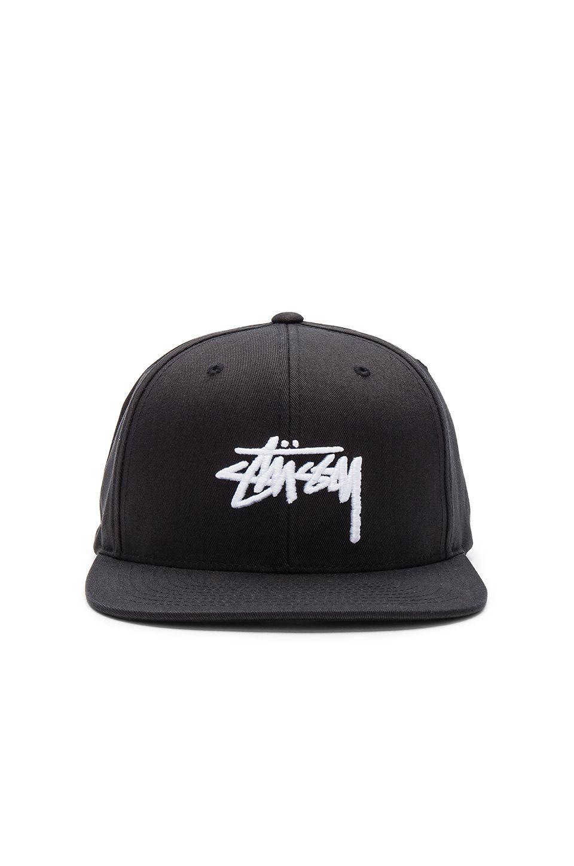 0da1d87ff53 Stussy Stock SP17 Snapback in Black