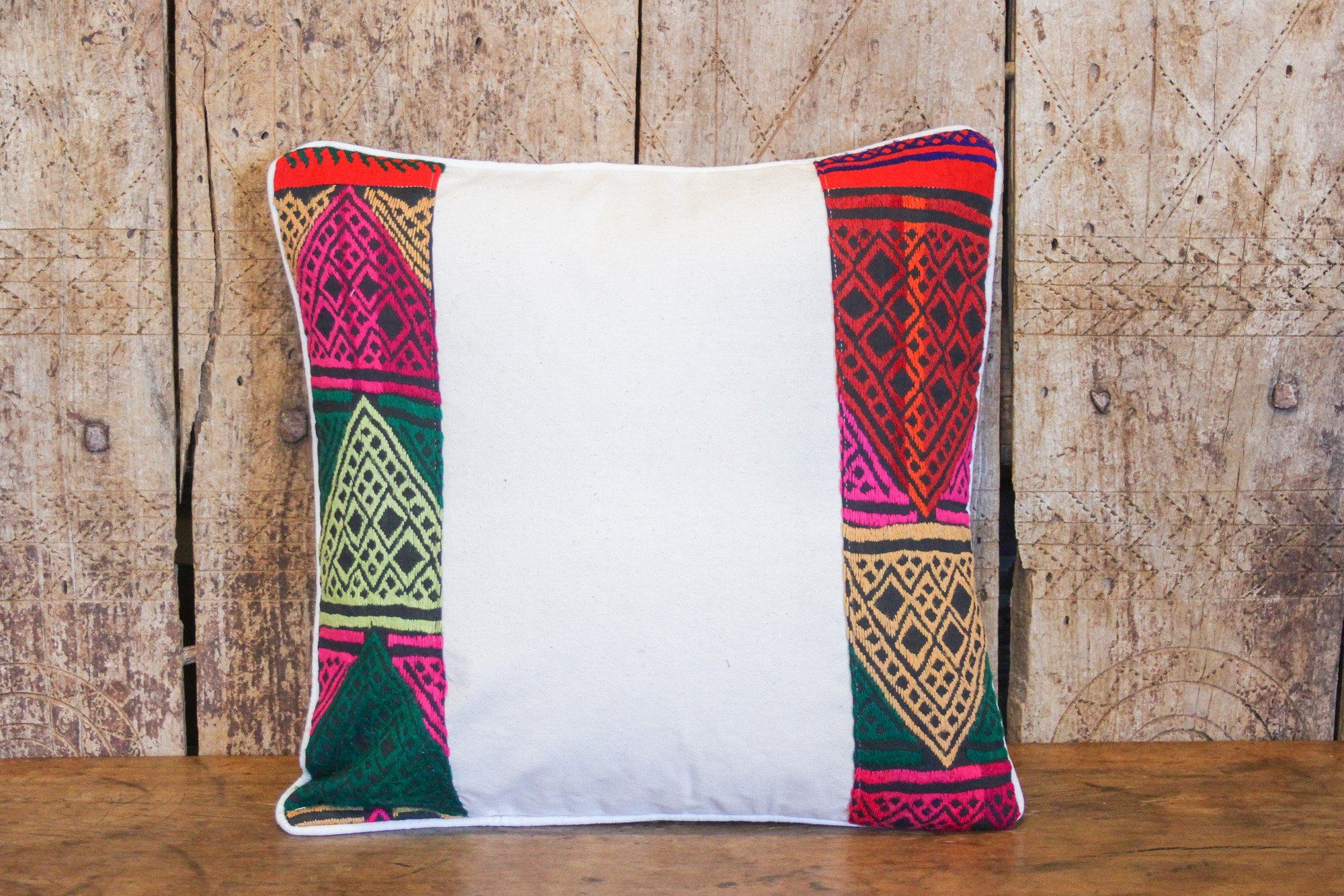 Colorful Tribal Lace Pillow