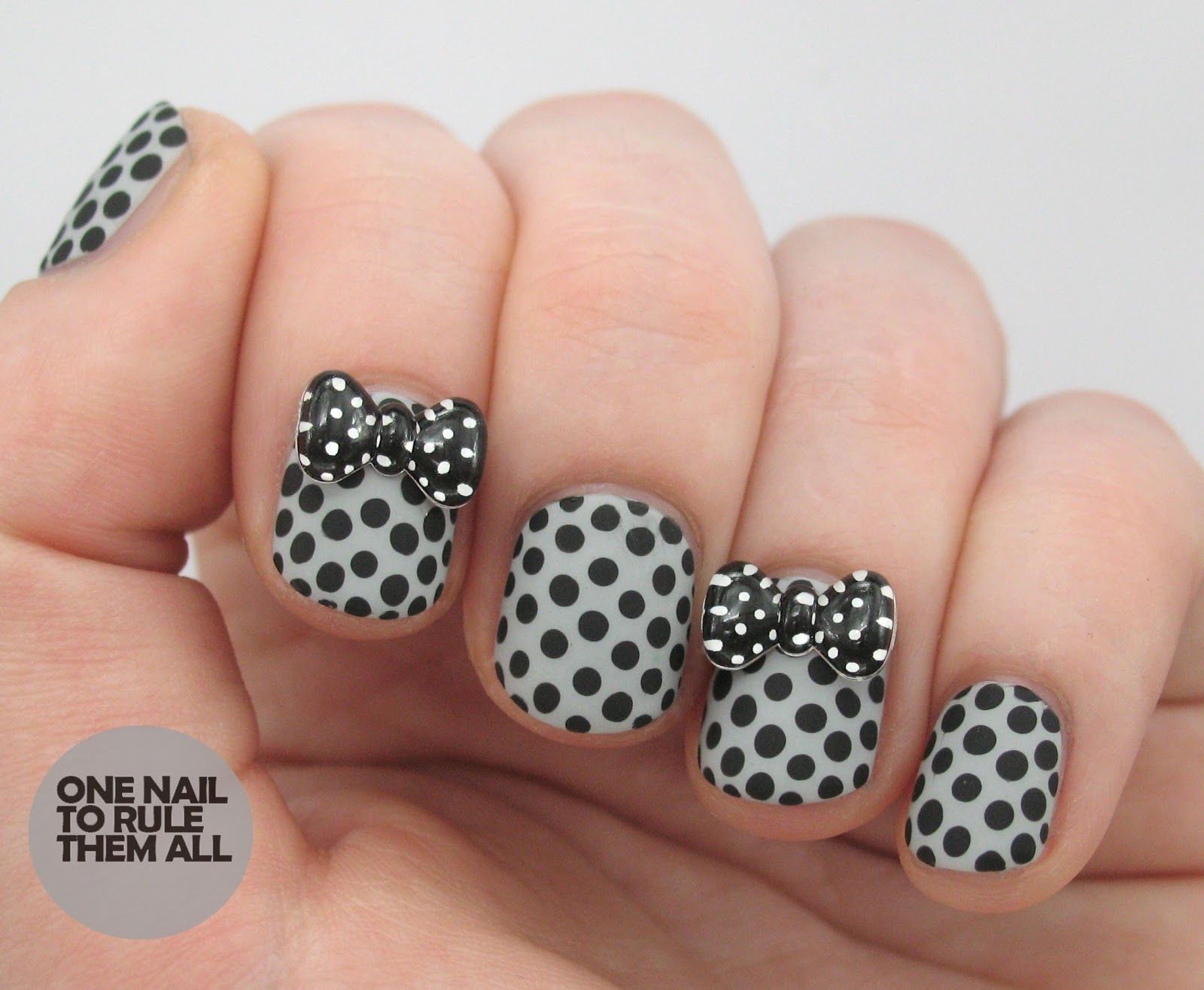 Spotty bow 'rhinestones'