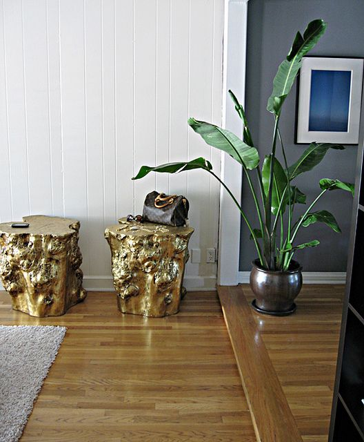 golden stumps side tables gold stools in 2019 pull up a stump and rh pinterest com