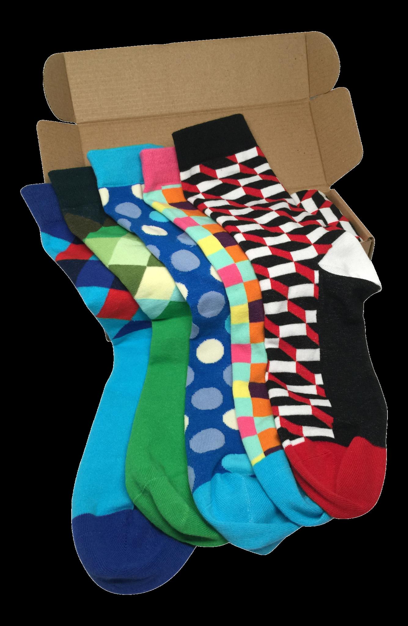 89210224651b6 5 Pair Mens Funky Fun Colorful Socks-Hipster Power Socks-Premium ...