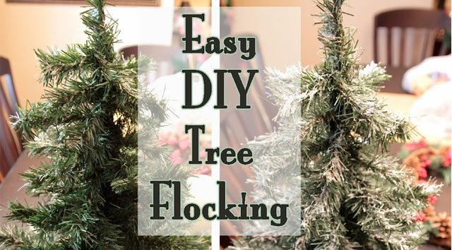 Create One Ingredient Fake Snow For Christmas Trees With Spackle Cheap Christmas Trees Diy Tree Flocked Christmas Trees