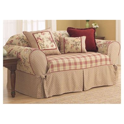 Love This Little Love Seat Slip Cover From Wayfair Sure Fit Lexington Sofa Slipcover Slipcovers For Chairs Slipcovered Sofa Shabby Chic Sofa