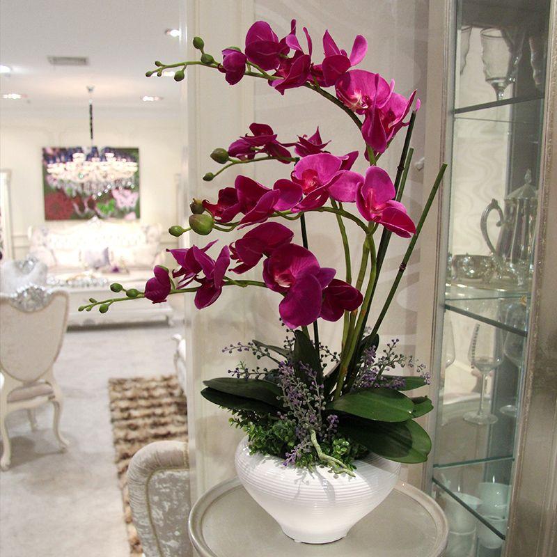 pas cher big bonsa fleurs artificielles orchid e arrangements pots de fleurs d coratives. Black Bedroom Furniture Sets. Home Design Ideas