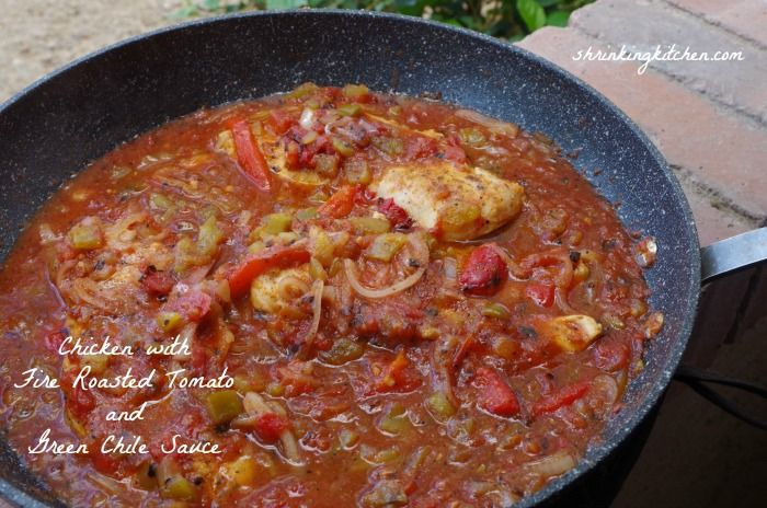 Bright and flavorful Chicken with Fire Roasted Tomato