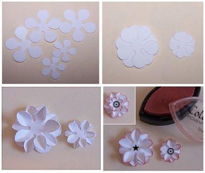 Szuflada Sposob Na Czyli Kursik Na Kwiatuszki Paper Flower Tutorial Paper Flowers Diy Paper Flowers