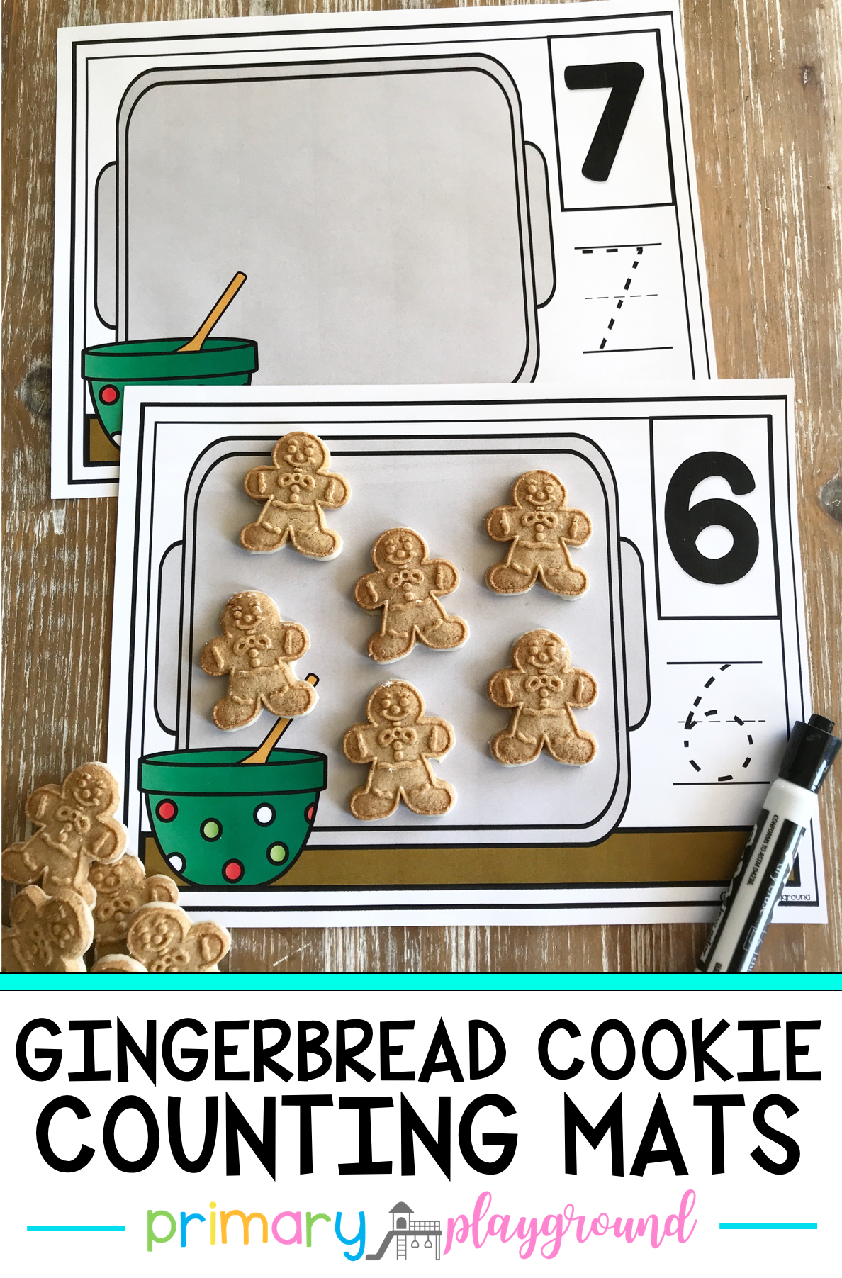 Gingerbread Cookie Counting Mats 1