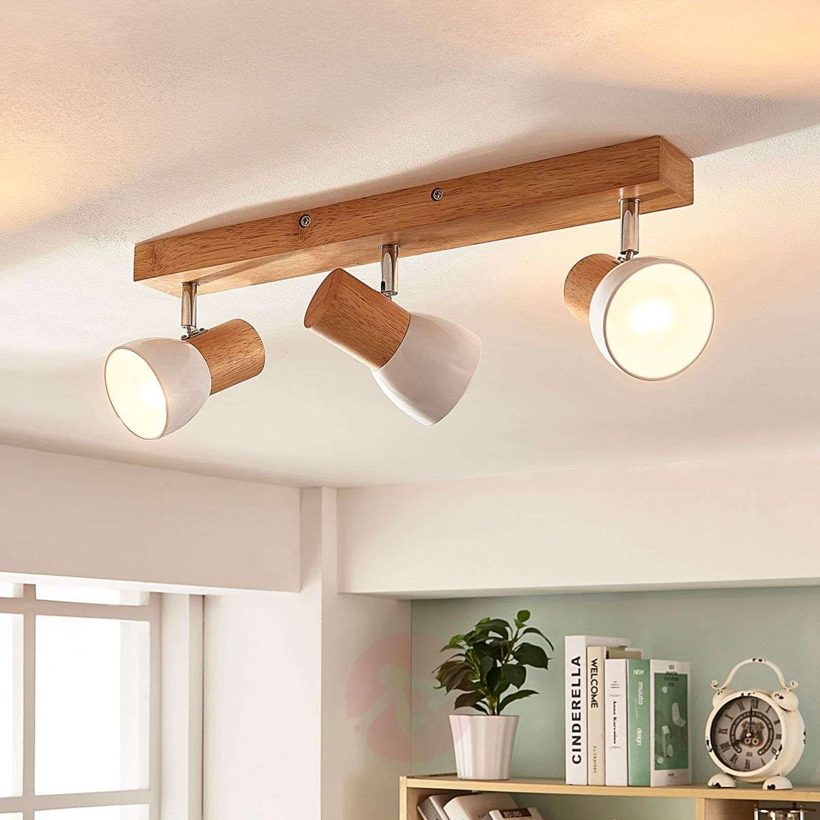 Basse Tension Salle De Bain trzypunktowa lampa sufitowa thorin z drewnem en 2020