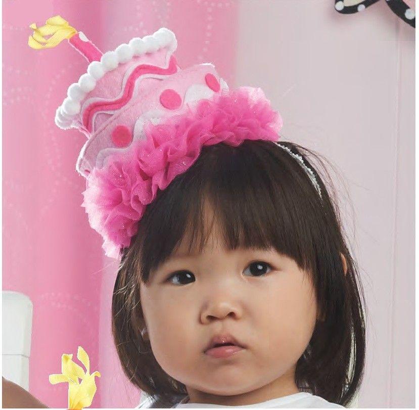 bc1e70c2030 Pink Felt Cake Headband by Mud Pie