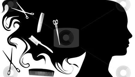 Box Hairstyle Beauty Hairdresser Tool Parlour Vector Hairstylist Business Cards Hair Salon Logos Beauty Salon Logo