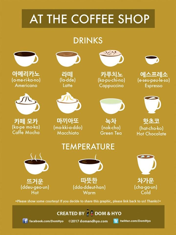 coffee shop korean language korean words learn korean