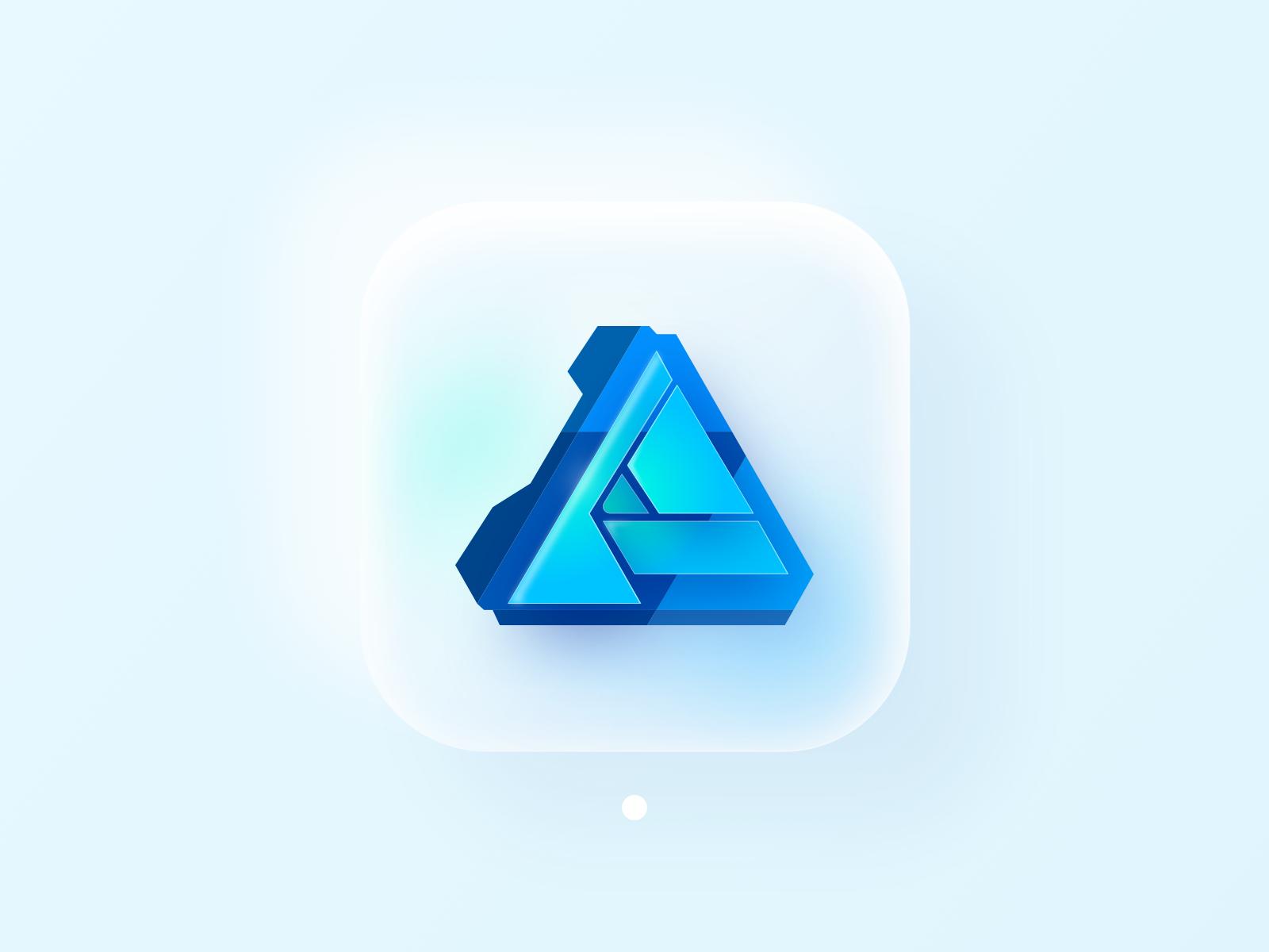Affinity Designer (Big Sur Icon) 3d,affinity designer,app