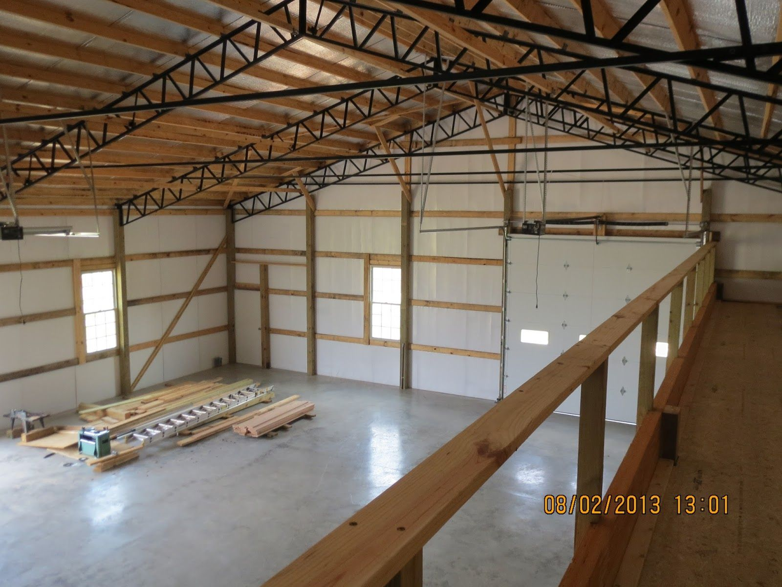 Image Result For Pole Barn With Loft Steel Trusses Pole Barn