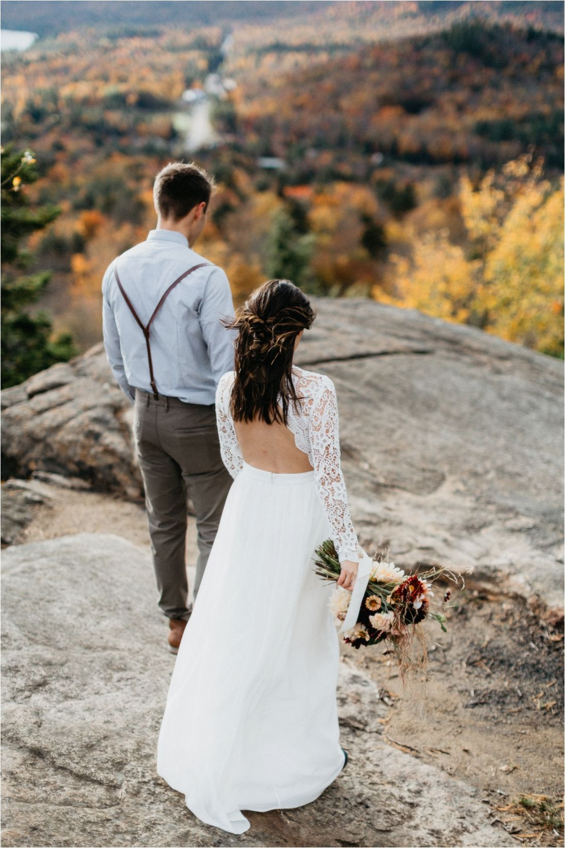 Fall Elopement on Rocky Mountain, Inlet, Adirondack