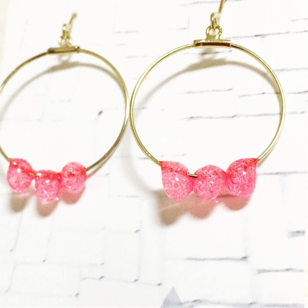 Pin By Toiro Soeru On アクセサリー Accessories Melted Pony Beads Earrings Melting Beads