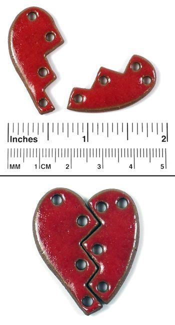 Elaine Ray  Stitched Heart Set | Aztec | 1 pendant