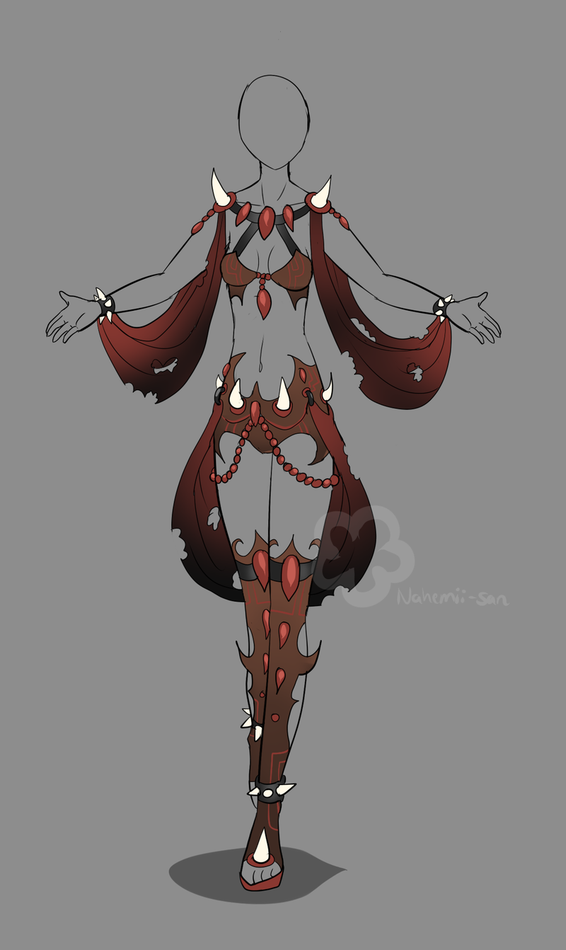 Evil fantasy design adopt sold by nahemii san deviantart com on deviantart
