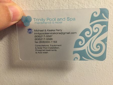 Pool Services Card With Frosted Effect Plastic Business Cards Plastic Business Cards Design Business Card Design