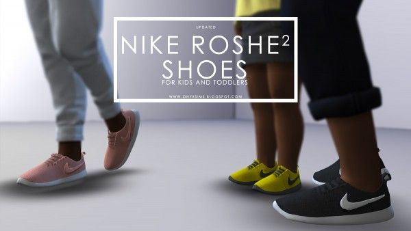 Onyx Sims: Roshe 2 Shoes updated • Sims 4 Downloads