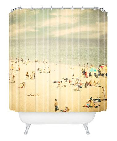 Take A Look At This Vintage Beach Shower Curtain By Deny Designs On Zulily Today Beach Shower Curtains