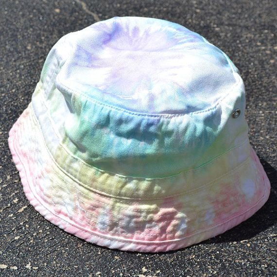 712c19117 Tie Dyed Pastel Rainbow Bucket Hat Children's Sizes | Clothes/Other ...