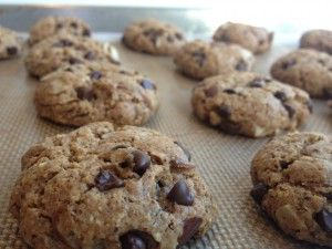 Flourless Almond Chocolate Chip Cookies - They have absolutely NO flour in them,  they have just the right amount of chewiness to them, and they taste AMAZING.