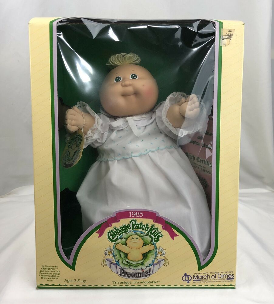 Vintage 1985 Cabbage Patch Kids Preemie Girl Arlana Brenna New Coleco 3870 Patch Kids Cabbage Patch Kids Dolls Cabbage Patch Dolls
