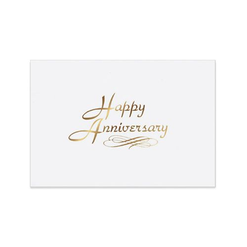 Business corporate anniversary card on the ball