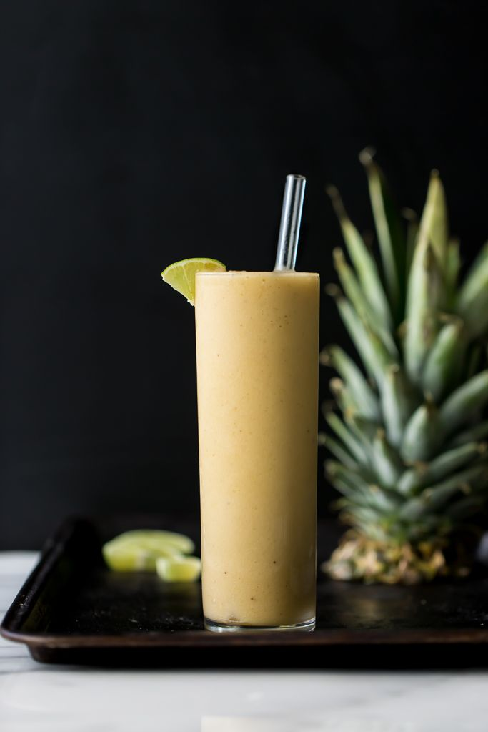 Pineapple-Maca Bliss Smoothie   Made with banana, pineapple and fresh lime juice