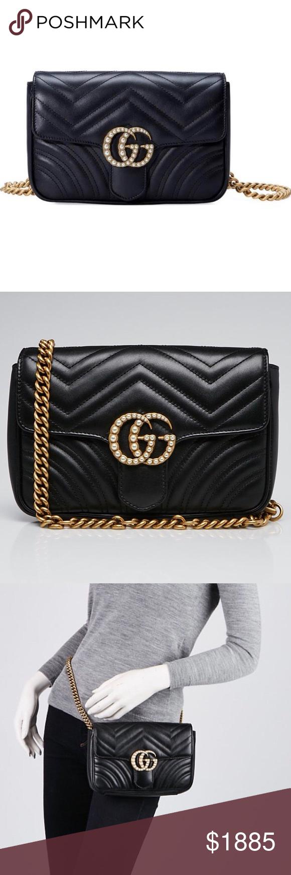 ce81cebf4db Gucci Marmont Matelasse Pearl GG Flap Belt Bag GENTLY USED Gucci Marmont  Matelasse Flap Belt Bag