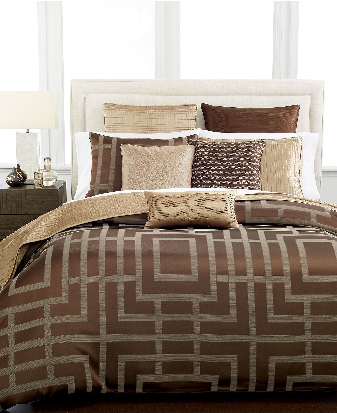 Hotel Collection Savoy Espresso Bedding - Collections Bed & Bath Macy'