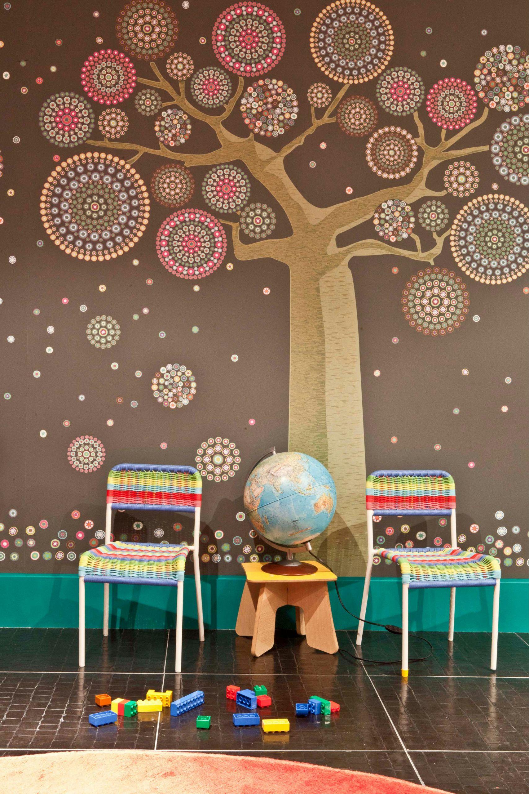 Millefiori murales pareti di carta carta da parati - Papier peint contemporain chambre ...