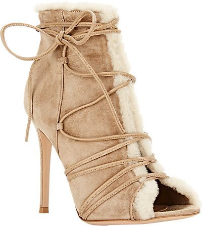 Gianvito Rossi Shearling-Lined Aspen Booties - Ankle Boots - Barneys ... 9bac7c58db