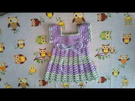 Crochet Uncinetto Vestitino Abitino Bimba Neonata Youtube