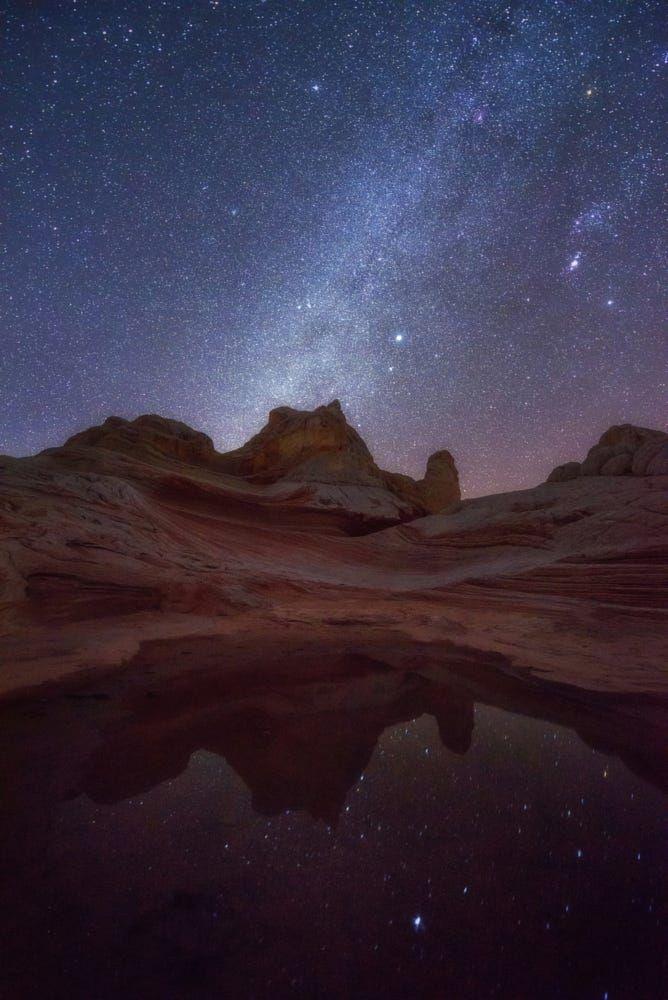 Milky Way Over White Pocket Arizona Desert By Wisanu Boonrawd Park Sky Landscape Nature Night Light Outdoor Beautiful Milky Way Arizona Landscape