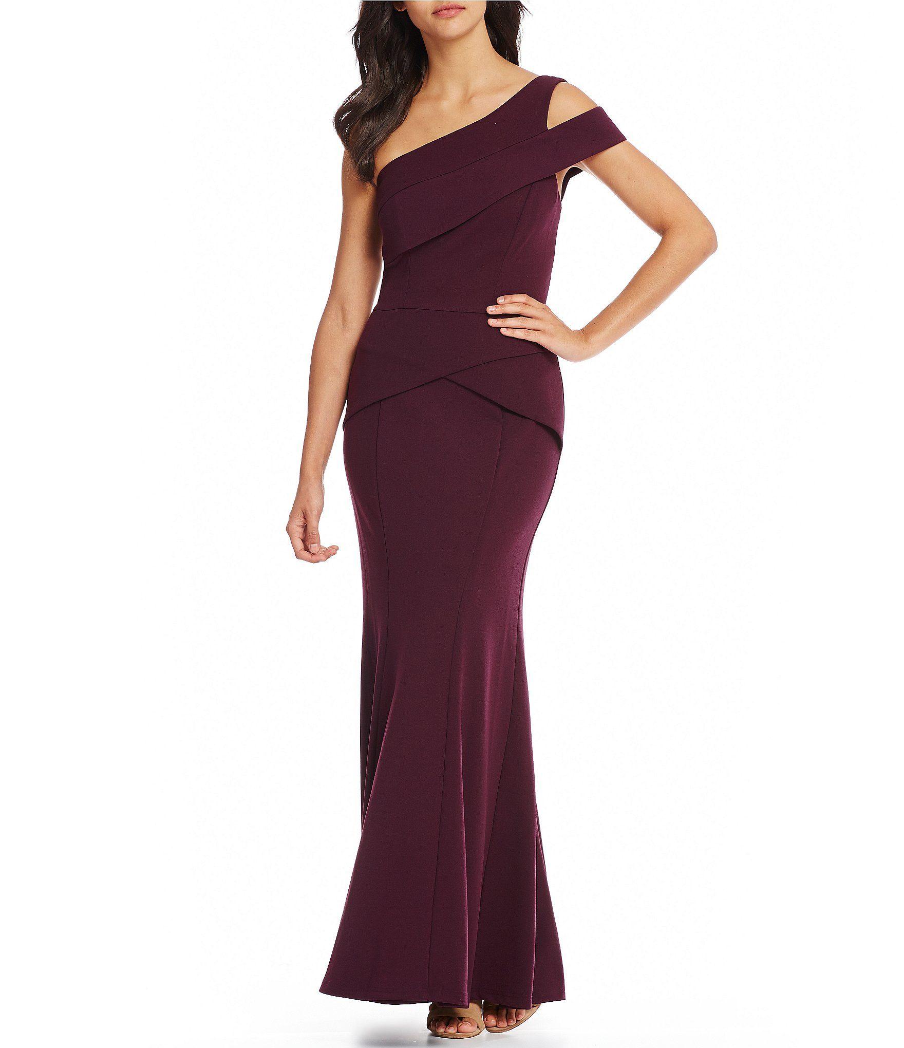 Shop for Cachet Cut Out Shoulder Crepe Gown at Dillards.com. Visit ...