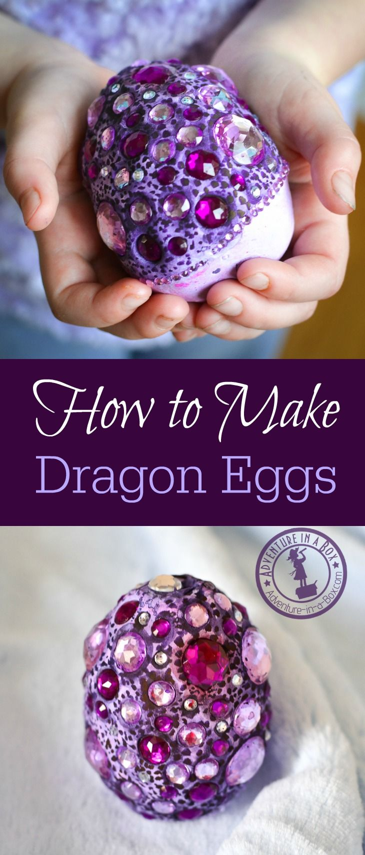 How to make dragon eggs from air-dry clay. Beautiful fantasy craft for kids. Fun project for Easter and all year round!