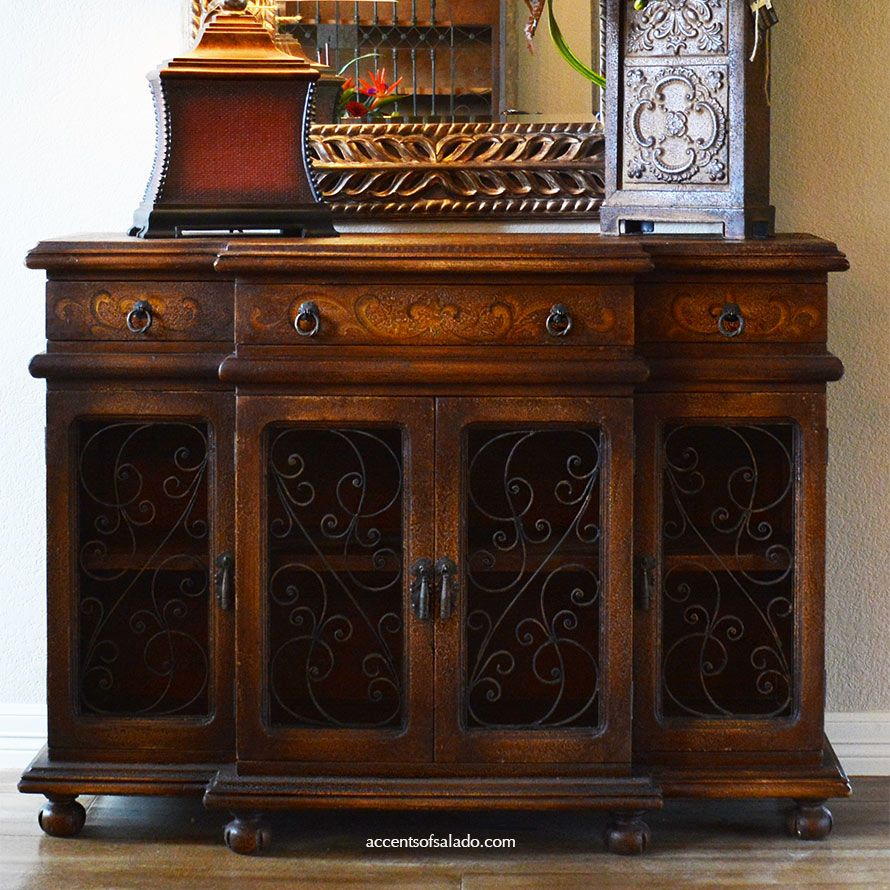 Tuscan Style Dining Room Furniture: Hand Painted Buffet/Foyer Chest At Accents Of Salado. See