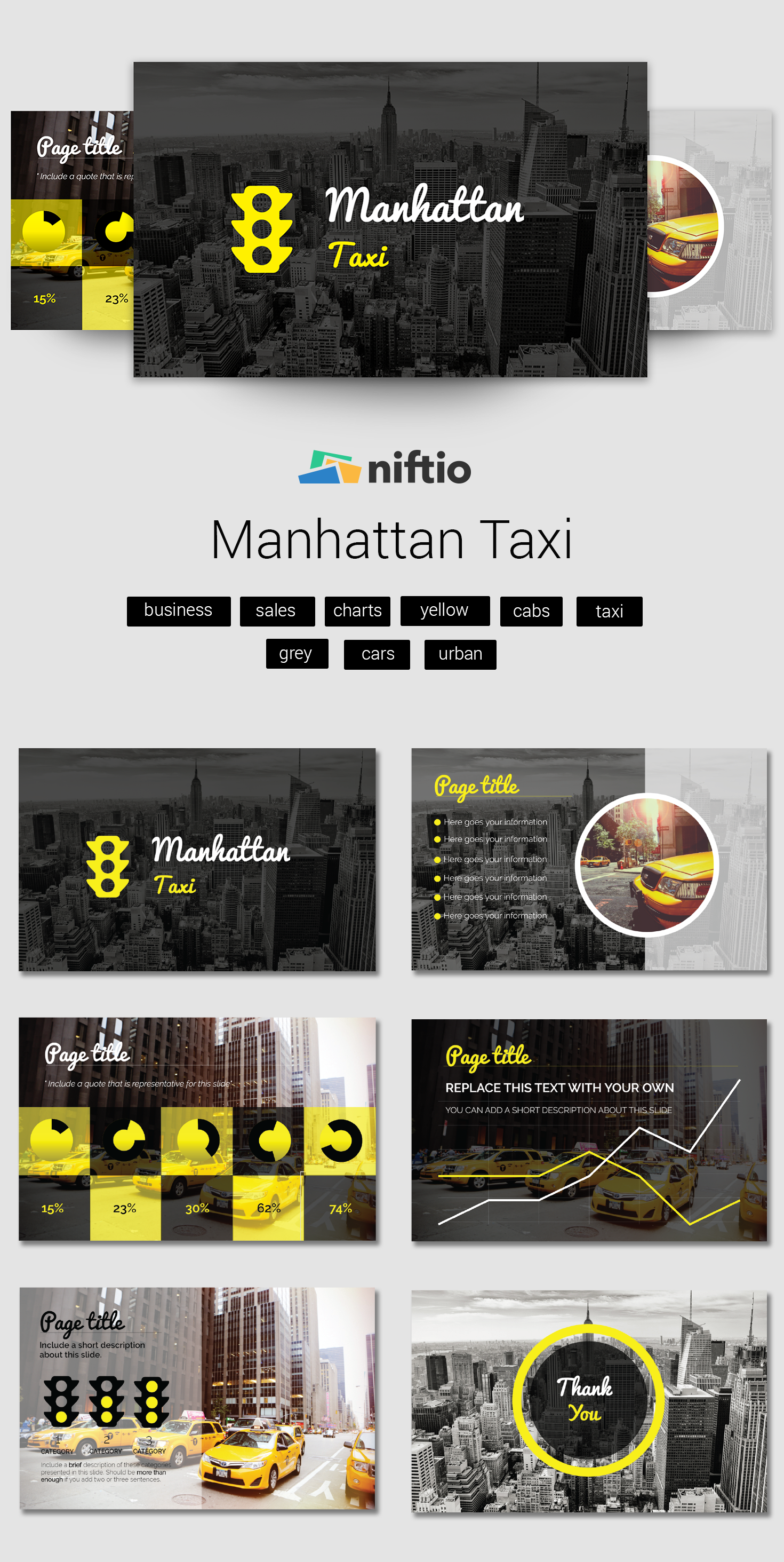 business presentation template presentation template taxi