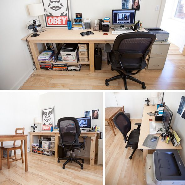 Office Buildout Diy Tables Home Home Office Setup Home Office Organization