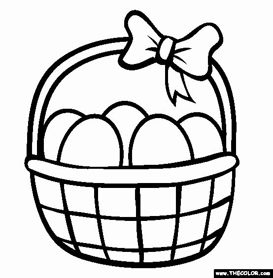 32 Easter Basket Coloring Page In 2020 Easter Bunny Colouring
