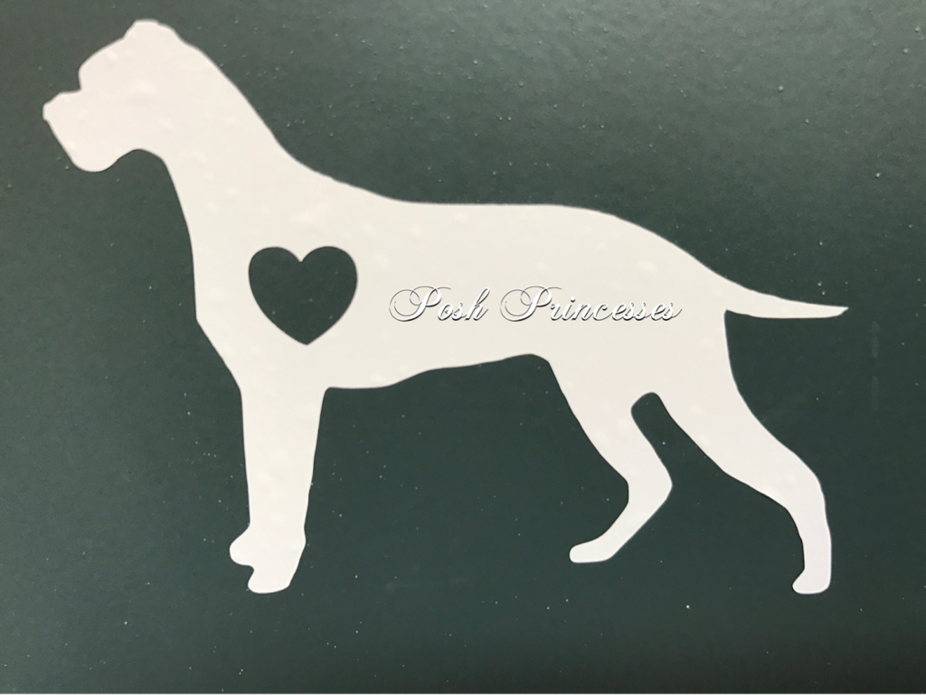 Boxer Dog Vinyl Decal Car Window Decal Laptop Sticker White 3 X2 Car Decals Vinyl Vinyl Decals Car Window Decals [ 769 x 1024 Pixel ]