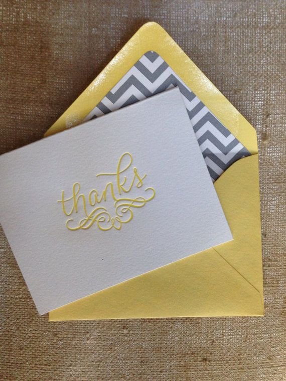 Letterpress Thank You Cards by BirchandMain on Etsy, $12.00