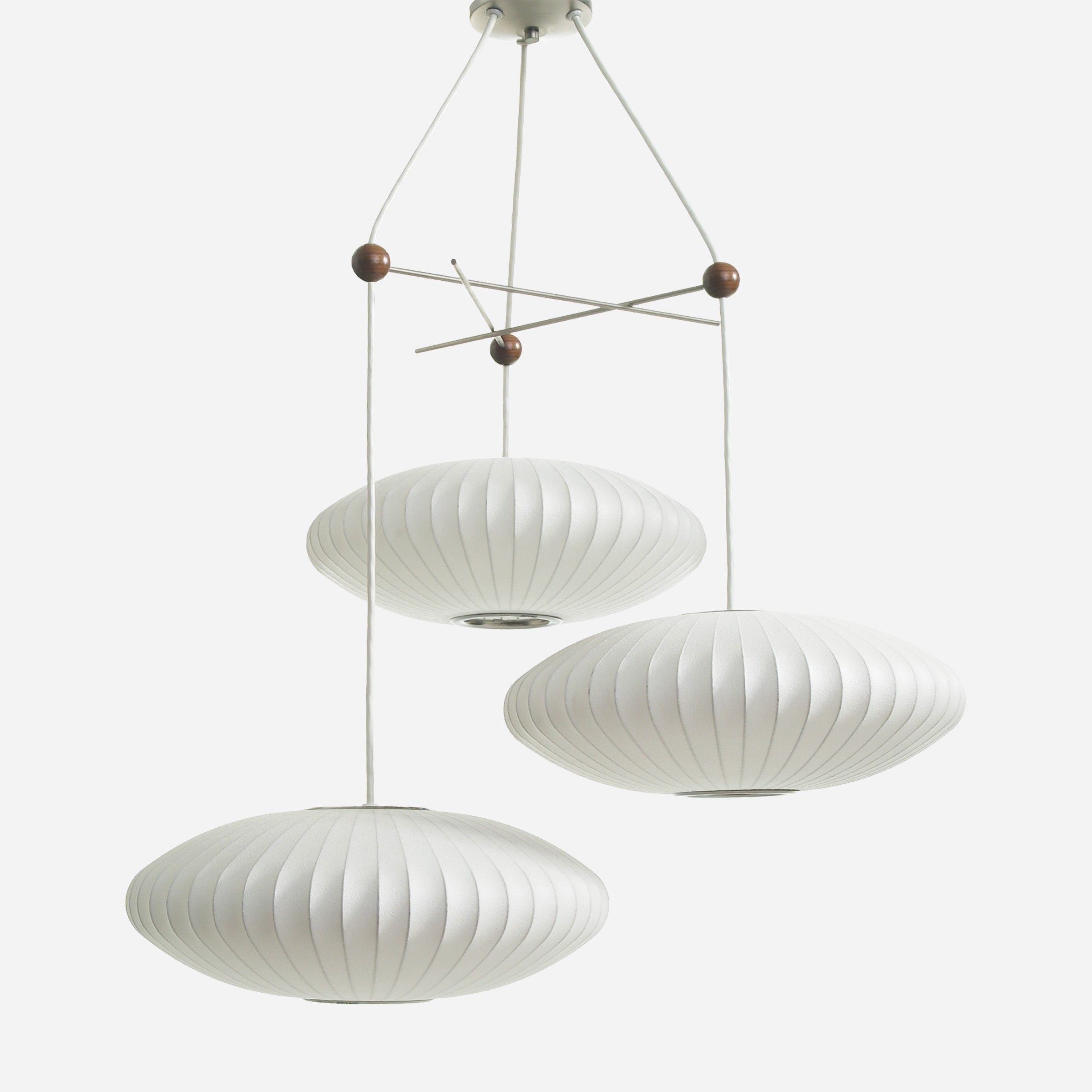 Living Rooms · Modernica George Nelson Bubble Lamps.