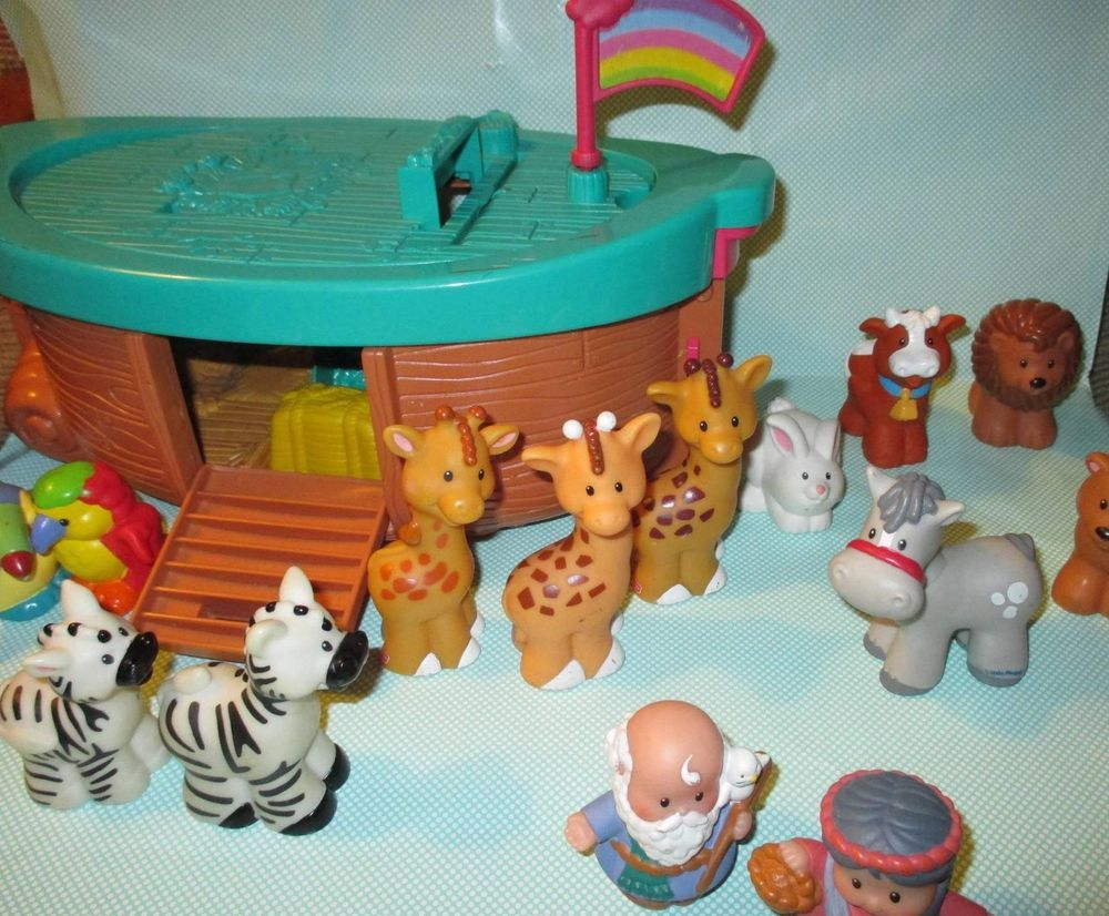 Fisher Price Noah\'s Ark Set. Not Complete, but 14 Animals, 2 People ...
