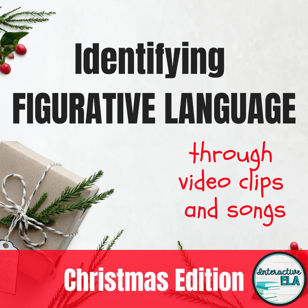 Distance Learning Christmas Figurative Language Digital