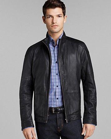 hugo boss leather jacket bloomingdales