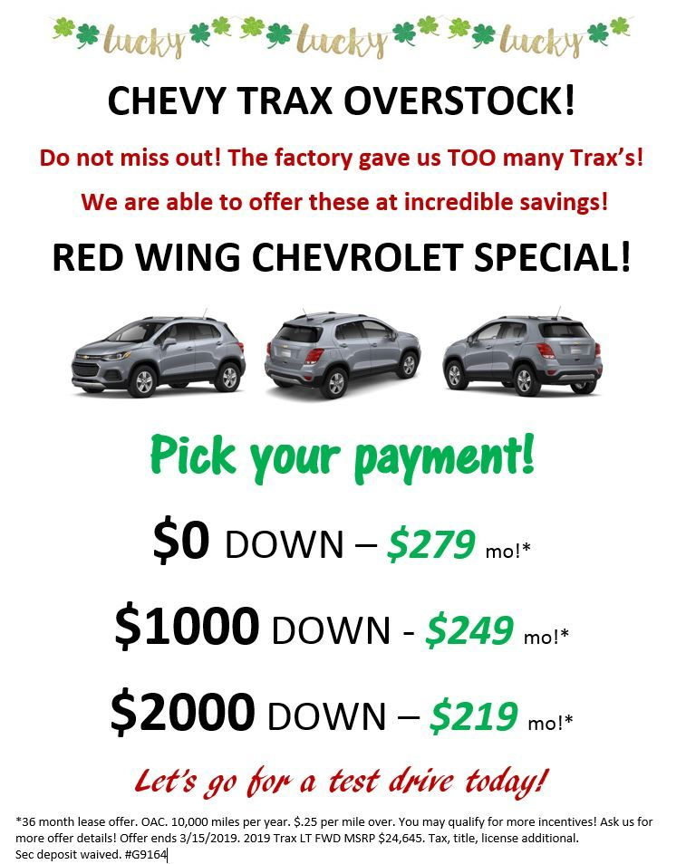 0 Trax Lease Offer Starting At 279 A Month See Flyer Or Call Us