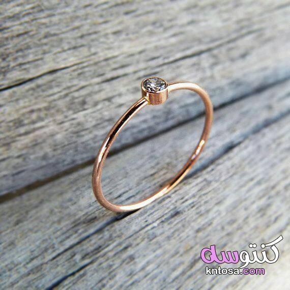 خواتم فضة بناتى رقيقة 2020 تشكيلة خواتم ذهب Rose Gold Diamond Ring Engagement Rose Gold Engagement Ring Simple Simple Engagement Rings